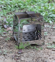 Medium Ultrlight Mini Pocket Wood Stove Portable Stainless Steel Stove Outdoor Wood Gas Stove Camping