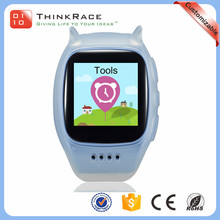 2016 Wholesale comfortable wearing kids gps tracker watch phone