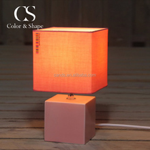 Wholesale price square design porcelain table lamp from China