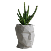 concrete succulent Face Flower pot