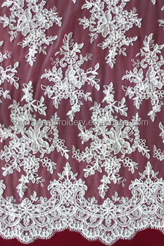 2014 Fancy tulle embroidery lace manufactuer in china