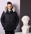 Winter heavy warm jackets men softshell hooded jacket custom
