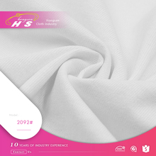 White tee shirt knit cotton muslin fabric for t-shirts