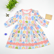 2018 hot sale baby girls spring summer dress little girl clothes wholesale children's boutique clothing usa