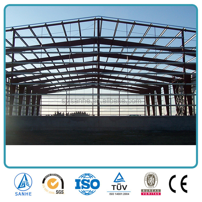 Low-price Large Prefab Light Steel Structure Buildings for industiral Shed
