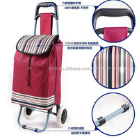 RH-FT01 Foldable Shopping Bags ployester oxford fabric 600D 360*300*920 Shopping Cart With Wheels,Folding Trolley