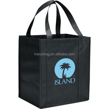 Black 80 GSM Non-Woven Polypropylene Recyclable Shopping Tote Bag