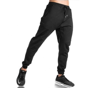 Fitted Gym Sweat-wicking Men Sports Running Training Jogger Pants With Zipper Pocket
