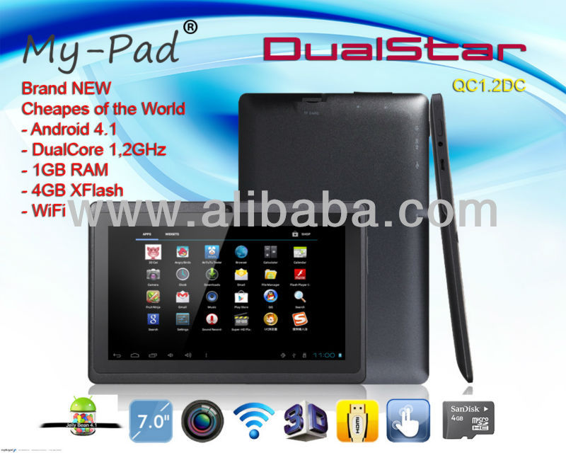 "My-Pad DualStar Tablet-PC 7"" Dual-Core 1.2GHz MID Tablet"