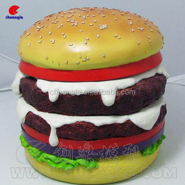 Hamburger Artificial Food, Simulation Food, Food Bread Model