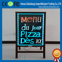 Solar Power Advertising Display For shops / restaurants / stores