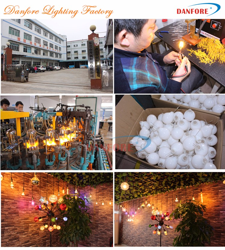2017 New products fireworks Diamond 3D LED Light for Christmas holiday decoration with medium edison screw base