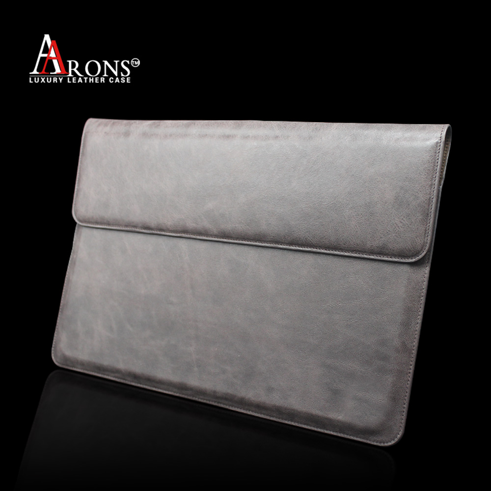 Genuine leather book case design folio opening pouch for ipad wholesale
