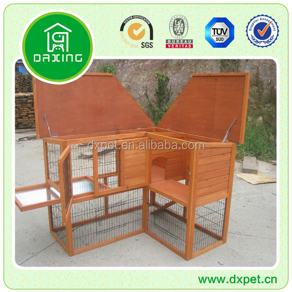 Waterproof Wooden Rabbit Hutch / Custom Rabbit Hutch / Pet Cage DXR039