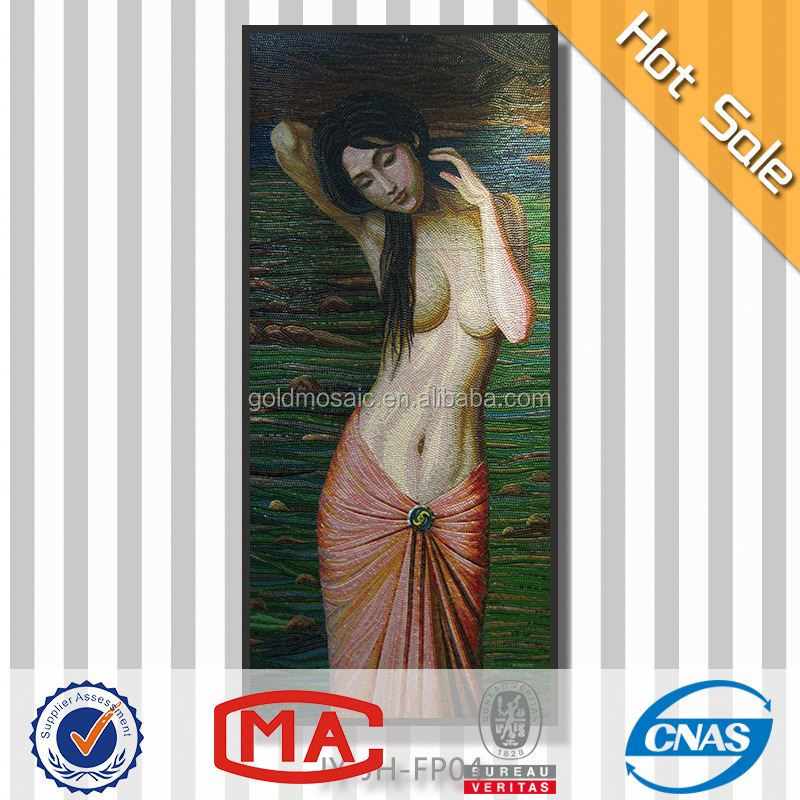 best selling beautiful design picture sexy naked women in garden paintings wall mural artist