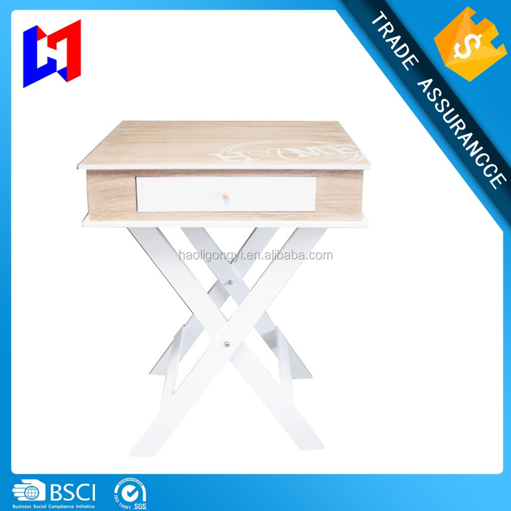 European style garden style wooden simple coffee table