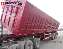 Quality Strenghen Steel 3Axles Side Dump Semi Trailer for Bulk Cargo Transpoartion