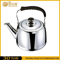 Top Quality 304 Stainless Steel Metal Whistling Kettle With Capsuled Bottom