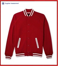 Wholesale cheap red varsity mens jacket design
