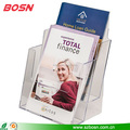 New design transparent acrylic 2 tier brochure display holder stand
