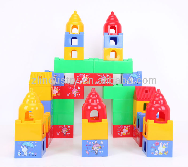 Children plastic building block toys