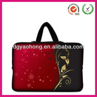 2013 hot sell sublimation logo neoprene laptop bag with straps and zipper(factory)