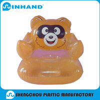 customised high quality promotional kids pvc inflatable animal sofa chair, home furniture general use inflatable sofa