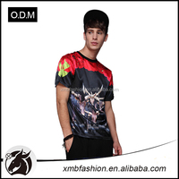 Factory supply new design 3D printed men fashion t shirt