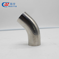 Sanitary pipe fitting welded elbow with straight ends 90 degree