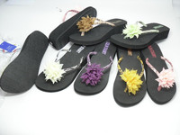 fashion summer EVA slippers durable use flower decoration 2013