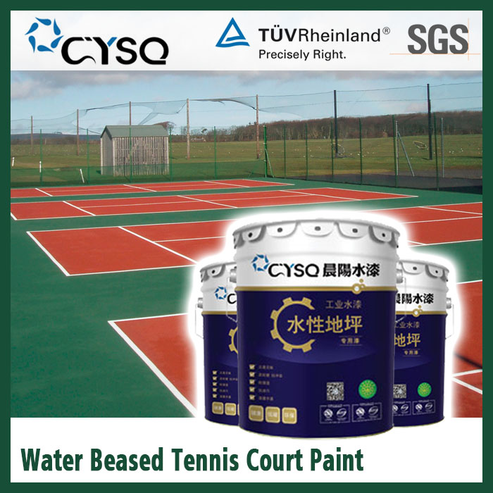 Water based epoxy tennis court coating paints