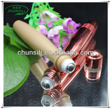 Refillable mini perfume bottle with stainless steel roller ball