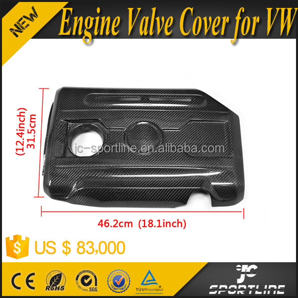 Carbon Fiber Replacement Engine Valve Cover Fit for VW GOLF VI 6 MK6 GTI Scirocco