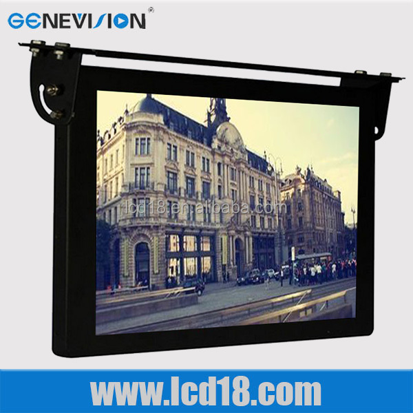 BUS, Taxi Application and LCD Screen Type GPS Location based In-Vehicle Advertising System (MBUS-185)