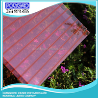 Factory Price PC twin wall roofing panel polycarbonate sheet carports content cheap beautiful