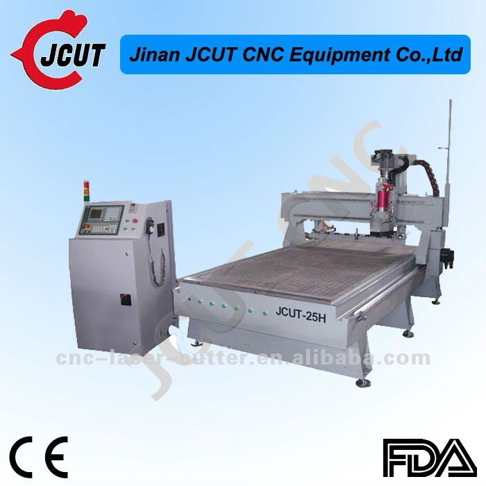 Solid Lathe Bed 8 Knives Stores Large Auto Tool Changing Function 3D Wood CNC Engraving Machine JCUT-25H