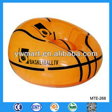 Fashional inflatable basketball sofa, inflatable basketball ball sofa for adult