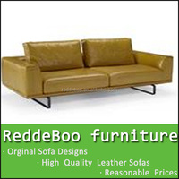 2014 hot sell urban rustic soft line leather sofas
