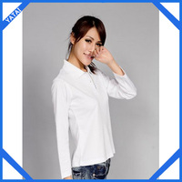 OEM hot selling women lightweight cotton polo shirts