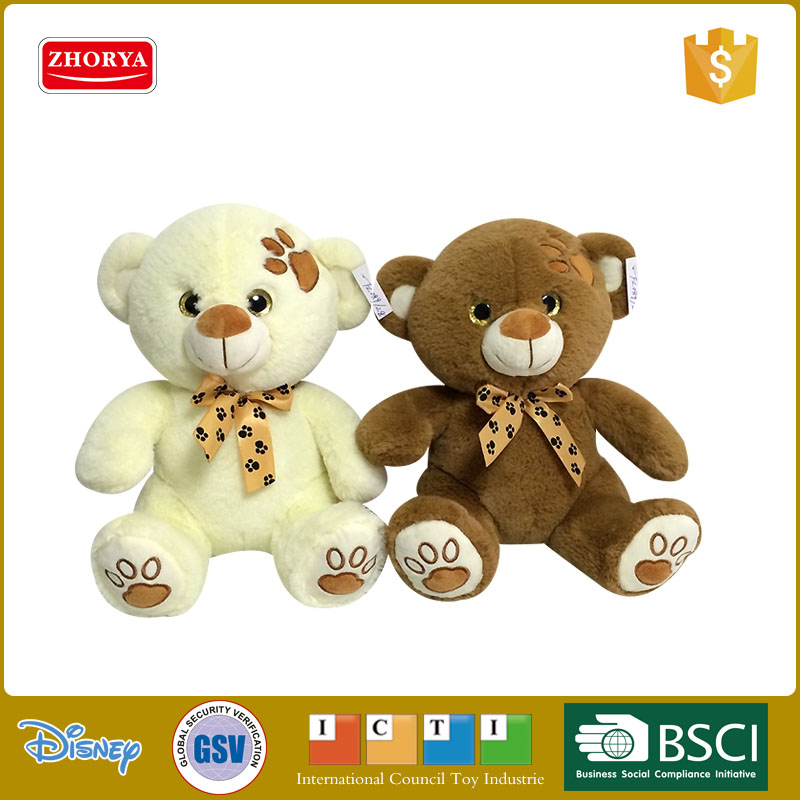 High quality soft plush bear toy plush toy teddy bear with bowknot kid's favorite plush bear toy