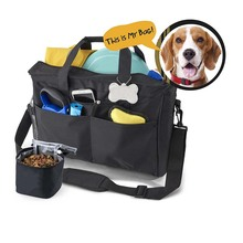 tote DogTravel Bag with pet food pouch for airline carry-on requirements