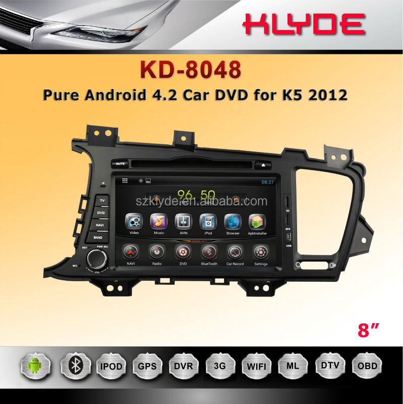 Pure Android 4.2 Touch Screen Car DVD for K5