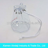PVC Vinyl Cylinder Soft Pouch with white drawstring