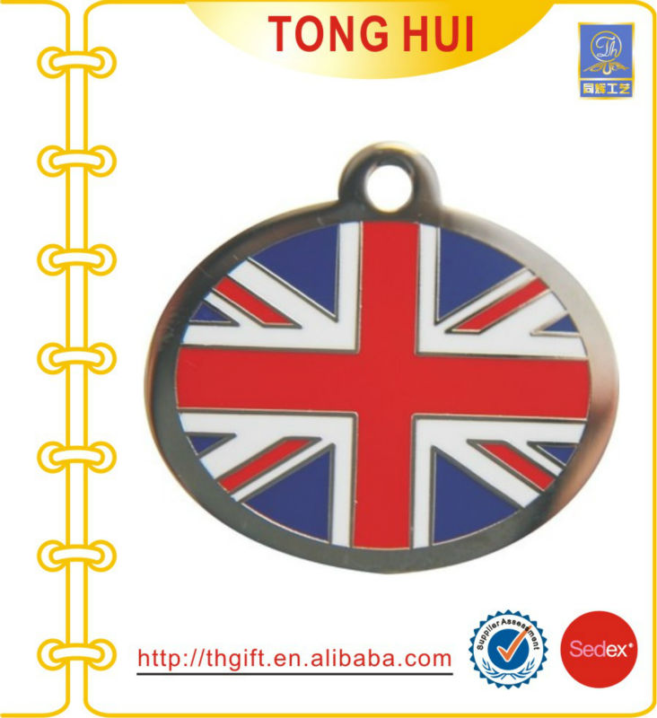 Flag metal pendant necklace jewelry