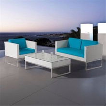 3 Pieces Alibaba Exclusive White Modern Rattan Outdoor Europe Garden Furniture