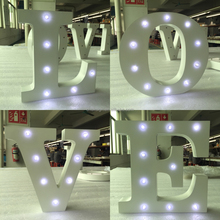Low cost ! beautiful battery free standing wood LOVE led small light letters alphabet for wedding decoration