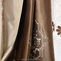 suede hotel blackout curtain customized fancy curtains with embroidery