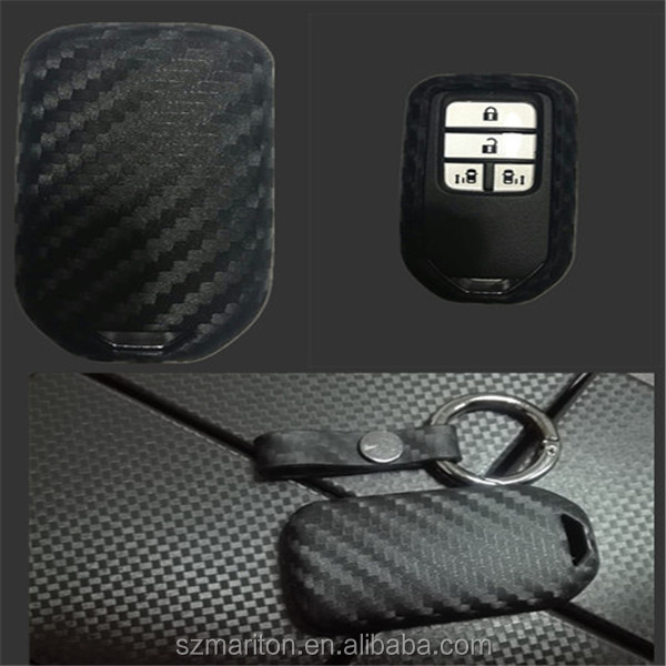 High quality Smart 4D carbon fiber silicone car key cover for Honda Lexus Jade odyssey with retail package on stock