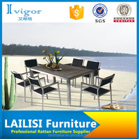 heavy-duty dining table and chairs / wooden dining table and chairs