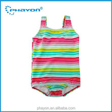 OEM 2016 Baby Girl's Swimsuit Strip One-Piece Swimwear Bikini OEM